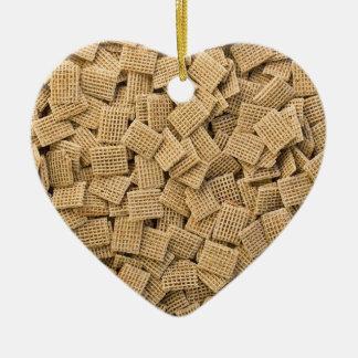 Whole grain cereals ceramic ornament