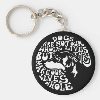 Whole Lives -bw Keychain
