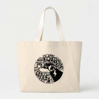 Whole Lives -bw Large Tote Bag
