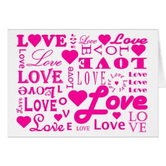 Whole Lotta Love Pink  Card