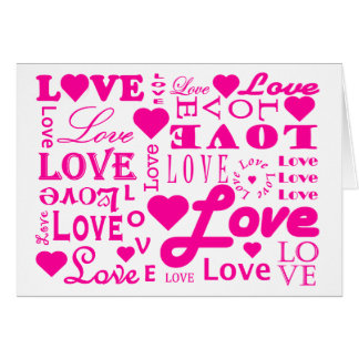 Whole Lotta Love Pink Valentine's Day Card