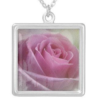 Whole Lotta Rosie Square Pendant Necklace
