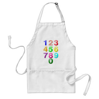 Whole Numbers or Counting numbers to 9 Adult Apron