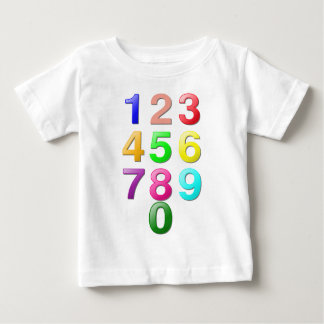 Whole Numbers or Counting numbers to 9 Baby T-Shirt