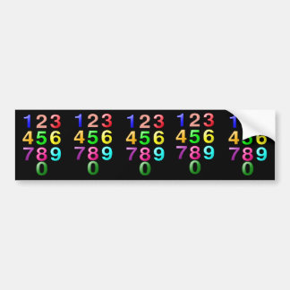 Whole Numbers or Counting numbers to 9 Bumper Sticker