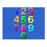 Whole Numbers or Counting numbers to 9 Post Card