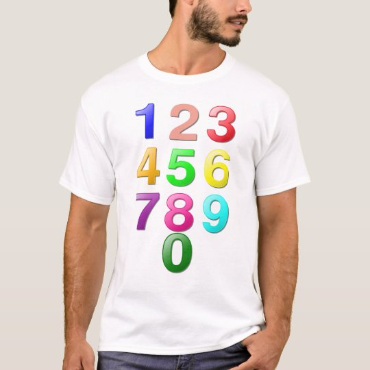 Whole Numbers or Counting numbers to 9 T-Shirt