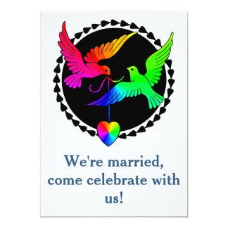 Whole of the Rainbow Dove Gay Reception Invitation