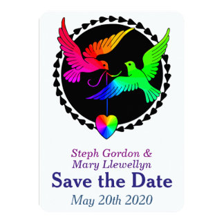 Whole of the Rainbow Save the Date Wedding Card