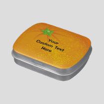 Whole Orange Background Candy Tin
