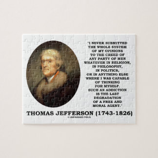 Whole System Opinions Thinking Myself Jefferson Jigsaw Puzzle