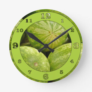 Whole Watermelons Round Clock