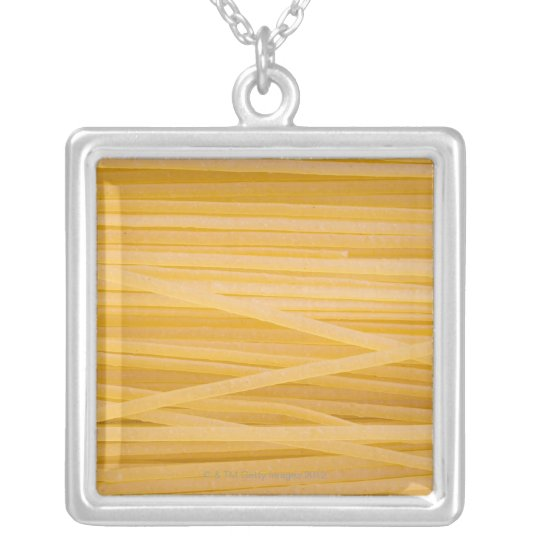 Whole wheat pasta silver plated necklace