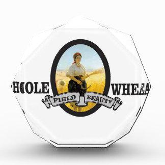 whole wheat woman acrylic award