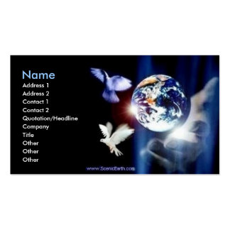 Whole World in His Hand Business Card Photo Art