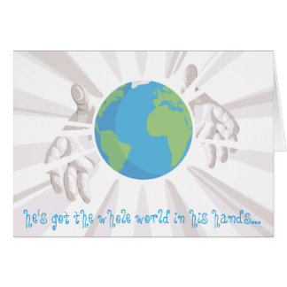 Whole World in His Hands Card