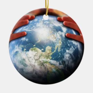 Whole World in His Hands Ceramic Ornament