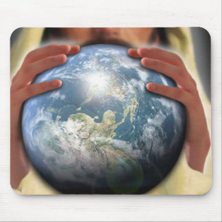 Whole World in His Hands Mouse Pad