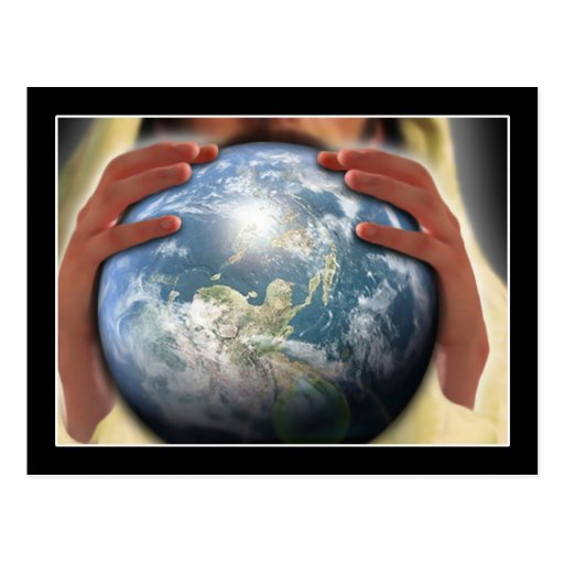Whole World in His Hands Postcard