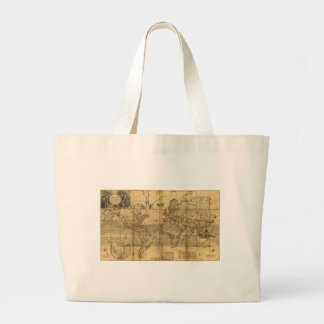Whole World Map by Herman Moll (1719) Large Tote Bag