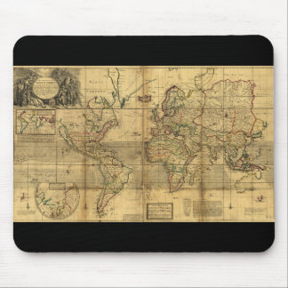 Whole World Map by Herman Moll (1719) Mouse Pad