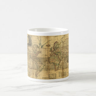 Whole World Map by Herman Moll (1719) Classic White Coffee Mug