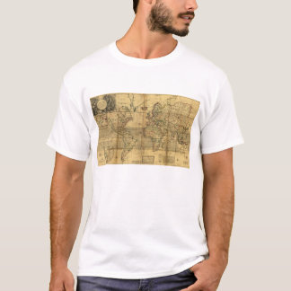 Whole World Map by Herman Moll (1719) T-Shirt