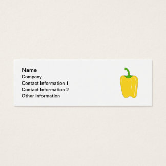 Whole Yellow Bell Pepper. Mini Business Card