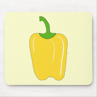 Whole Yellow Bell Pepper. Mousepads