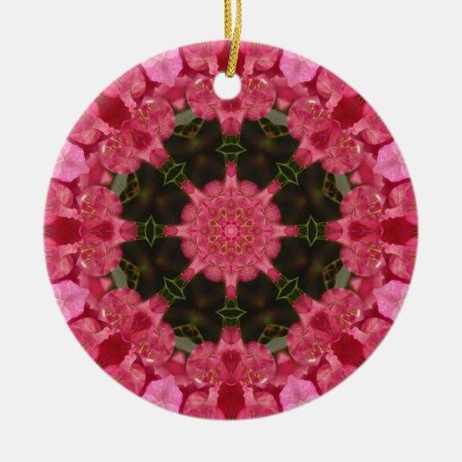 Wholeness l Pink Floral Mandala Ornaments