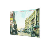 Wholesale District Scene on Los Angeles Street Gallery Wrapped Canvas