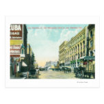 Wholesale District Scene on Los Angeles Street Postcards