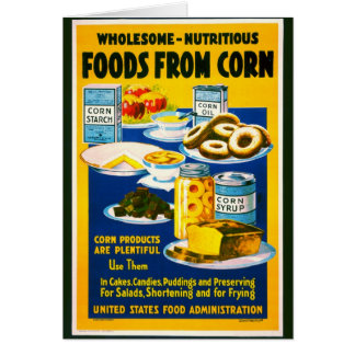 Wholesome Corn War Poster 1918 Card