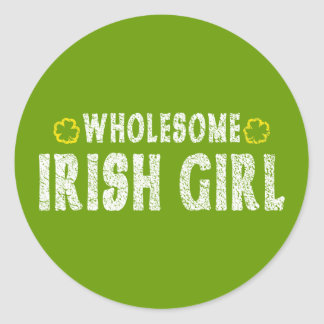 Wholesome Irish Girl Classic Round Sticker