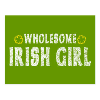Wholesome Irish Girl Postcard