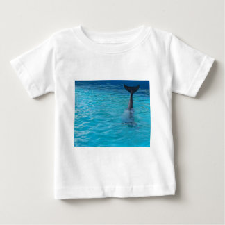Wholphin tail wave baby T-Shirt