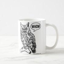 Whom Owl Grammar Mug English Teacher