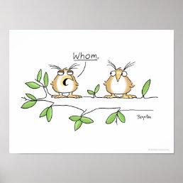 WHOM OWL poster by Sandra Boynton