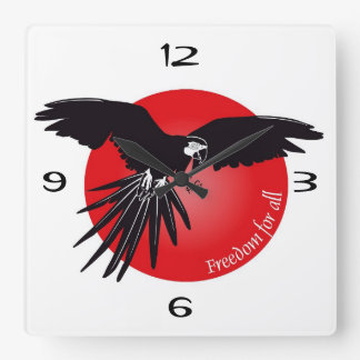 Whom the time strikes square wall clock