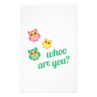 Whoo Are You? Stationery Paper