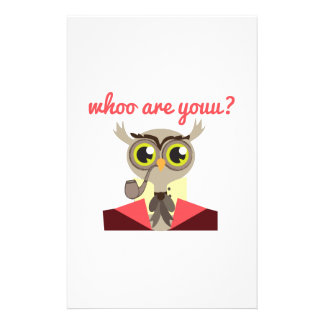 Whoo are Youu? Stationery Design
