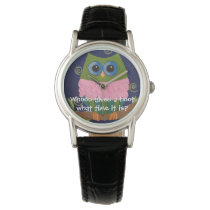 Whoo Gives a Hoot What Time It Is? Wrist Watch