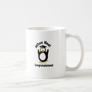 whoo hoo congratulations graduation penguin coffee mug