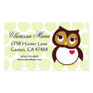 Whoo le ama tarjetas de visita