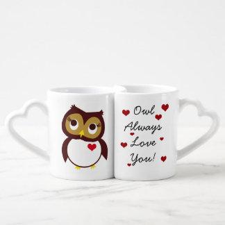 Whoo le ama taza para enamorados