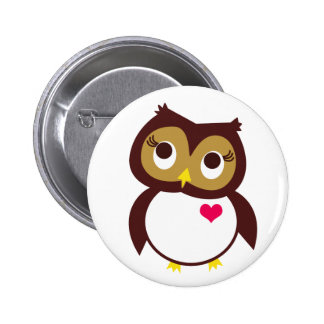 Whoo Loves You 2 Inch Round Button