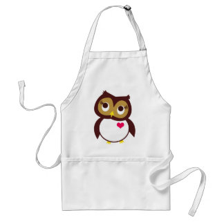 Whoo Loves You Adult Apron