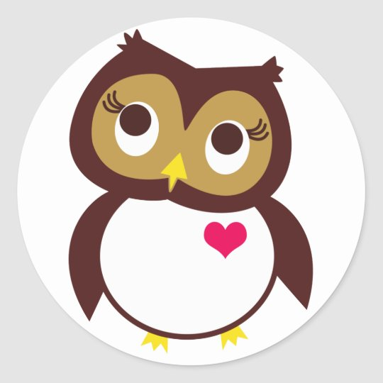 Whoo Loves You Classic Round Sticker