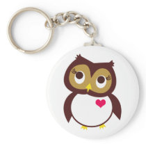 Whoo Loves You Keychain