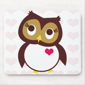 Whoo Loves You Mouse Pad